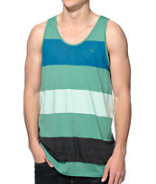 Imperial Motion Rufus Green & Blue Stripe Tank Top