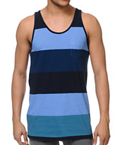 Imperial Motion Rufus Navy & Blue Stripe Tank Top