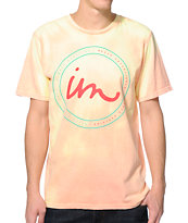 Imperial Motion State Logo Coral & Yellow Color Change Tee Shirt