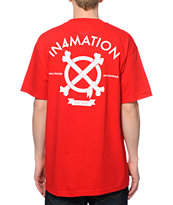 In4mation Crossbones 2 Red Tee Shirt