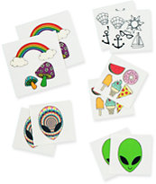 Inked Alien Pack Temporary Tattoos