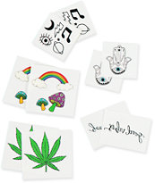 Inked Psychedelic Pack Temporary Tattoos