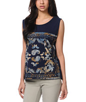 Insight Bandana Navy Tank Top