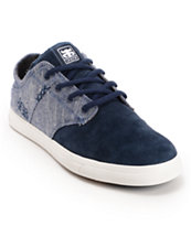 Ipath Nomad S Dark Blue Linen & Suede Skate Shoe