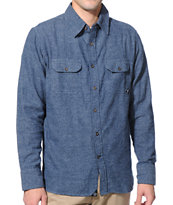 JSLV Avenue Navy Long Sleeve Button Up Shirt