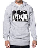 JSLV Explicit Heather Grey Pullover Hoodie