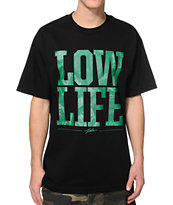 JSLV Low Life Black & Green Tee Shirt