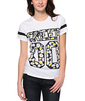 Jac Vanek Creep Daisy Fill White T-Shirt