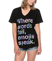 Jac Vanek Emojis Speak V-Neck T-Shirt