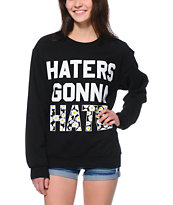 Jac Vanek Haters Black Crew Neck Sweatshirt