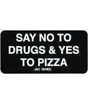 Jac Vanek Yes To Pizza Sticker