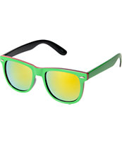Jack Martin Frisky Business Green & Red Sunglasses