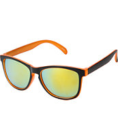 Jack Martin Motosurf Matte Black & Orange Sunglasses