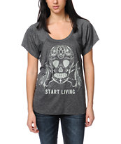 Jawbreaking Start Living Heather Grey Tee Shirt