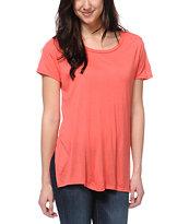 Jolt Coral Tunic T-Shirt