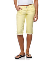 Jolt Kelly Green Skimmer Cropped Jeans