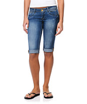 Jolt Kelly Skimmer Indigo Bermuda Denim Shorts