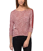 Jolt Redwood Lace Dolman Top
