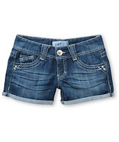 Jolt Ryan Check Pocket Indigo Denim Shorts