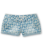 Jou Jou Cora Aztec Wash Denim Shorts