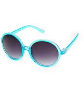 June Crystal Mint Large Round Sunglasses