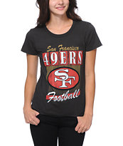Junk Food 49ERS Black Tee Shirt