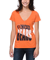 Junk Food Chicago Bears Orange V-Neck Tee Shirt