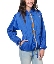 K-Way Claudette Klassic Blue Windbreaker Jacket