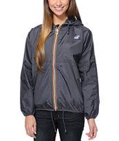 K-Way Claudette Klassic Grey Windbreaker Jacket