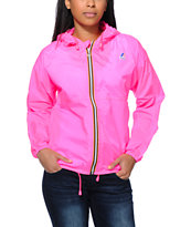 K-Way Claudette Klassic Neon Pink Windbreaker Jacket