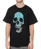 KR3W Bracket Skull Black Tee Shirt