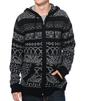 KR3W Decibel Black Zip Up Hooded Sweater