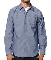 KR3W Fuego Blue Long Sleeve Button Up Shirt