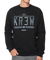 KR3W Hard Times Black Crew Neck Sweatshirt