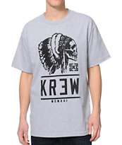 KR3W Headdress Heather Grey Tee Shirt
