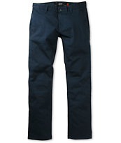 KR3W K Slim Blue Bedford Slim Fit Chino Pants