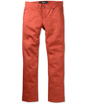 KR3W K Slim Burnt Orange Skinny Twill Pants