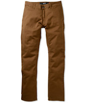 KR3W K Slim Coffee Skinny Chino Pants