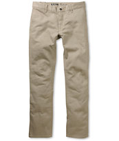 KR3W K Slim Dark Khaki Skinny Chino Pants
