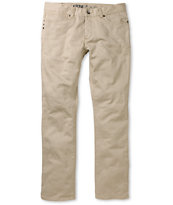 KR3W K Slim Dark Khaki Twill Jeans