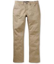 KR3W K Slim Dark Khaki Twill Slim Fit Jeans