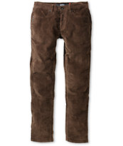 KR3W K Slim Soil Brown Corduroy Slim Fit Pants