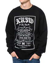 KR3W Label Black Crew Neck Sweatshirt