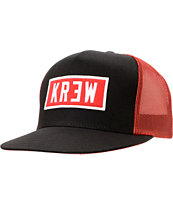 KR3W Locker Red & Black Trucker Snapback Hat