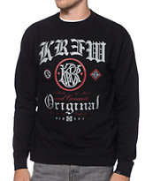 KR3W Presidente Black Crew Neck Sweatshirt