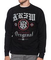KR3W Presidente Black Crew Neck Sweatshirt