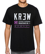 KR3W Registered Black Tee Shirt