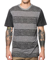 KR3W Scribble Stripe Tee Shirt