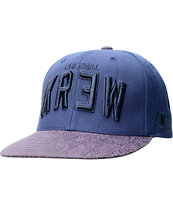 KR3W Team 2 Navy & Purple Snapback Hat