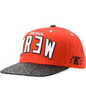 KR3W Team 2 Red & Black Snapback Hat